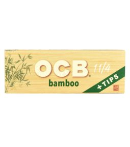 OCB Bamboo 1 1/4 Rolling Papers + Tips