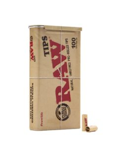 Raw Unrefined Pre-Rolled Tips Tin 100ct