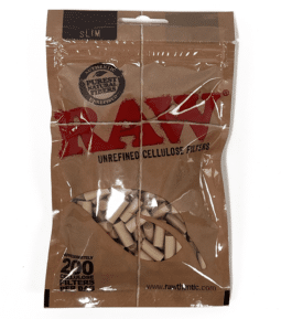 RAW Slim Cellulose Filters in resealable bag